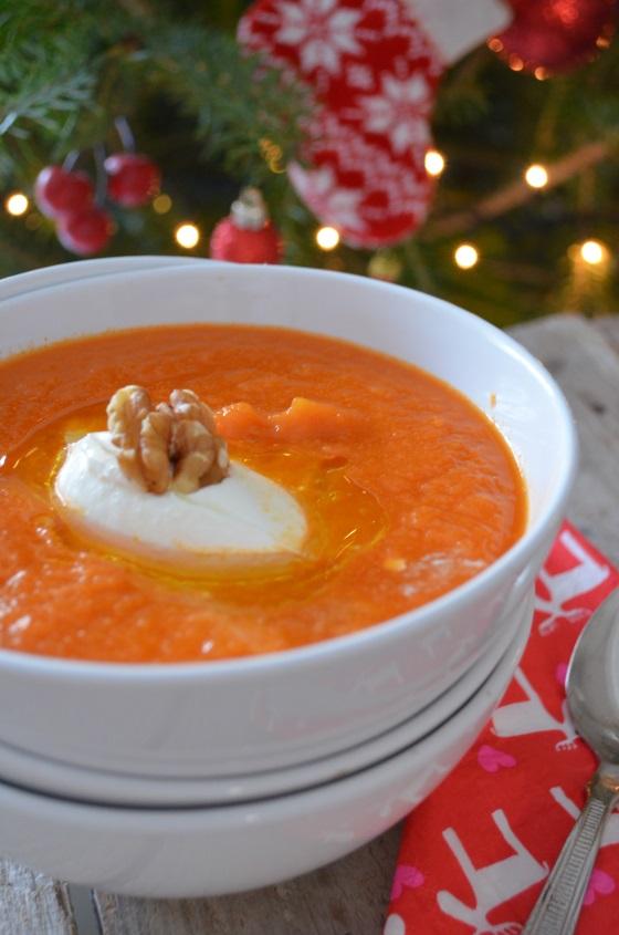 Christmas carrot soup recipe συνταγή σούπα καρότο βελουτέ cool artisan Γαβριήλ Νικολαΐδης