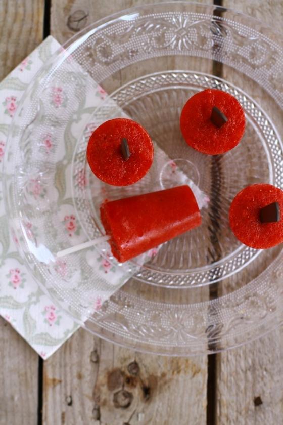 συνταγή γρανίτα φράουλα, με ένα υλικό, recipe παγωτό ξυλάκη, ice pop strawberry, cool artisan, Γαβριήλ Νικολαίδης