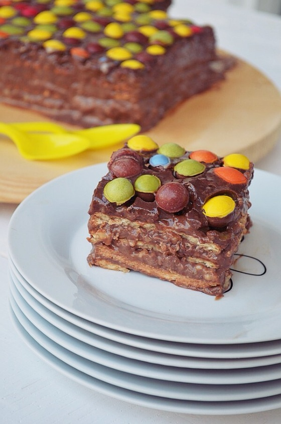 Τούρτα σοκολάτα με ζαχαρούχο γάλα και μπισκότα, συνταγή , στέλιος Παρλιάρος, Γλυκές Αλχημείες,Chocolate and petit beurre biscuits Cake, Γαβριήλ Νικολαΐδης, cool artisan