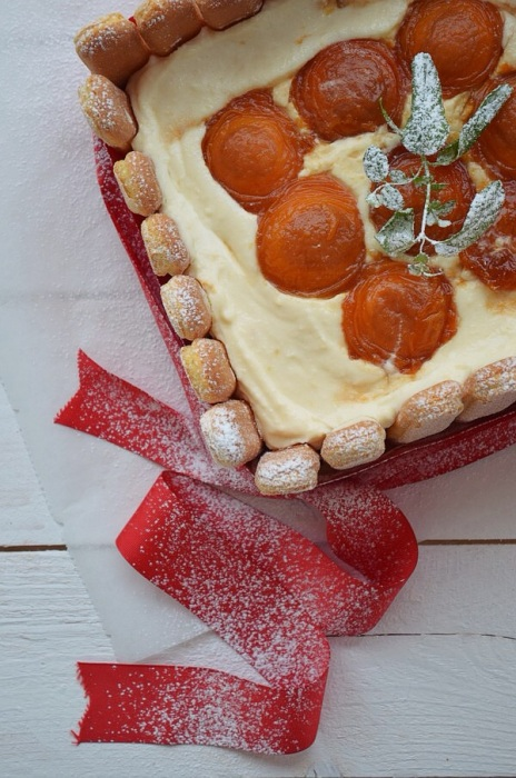 cream cheese, lady fingers, apricot caramelised, sweet recipe summer, trend pastry, συνταγή, τούρτα, τυρί κρέμα, ανθότυρο, καραμελωμένα φρούτα, Γαβριήλ Νικολαΐδης, cool artisan