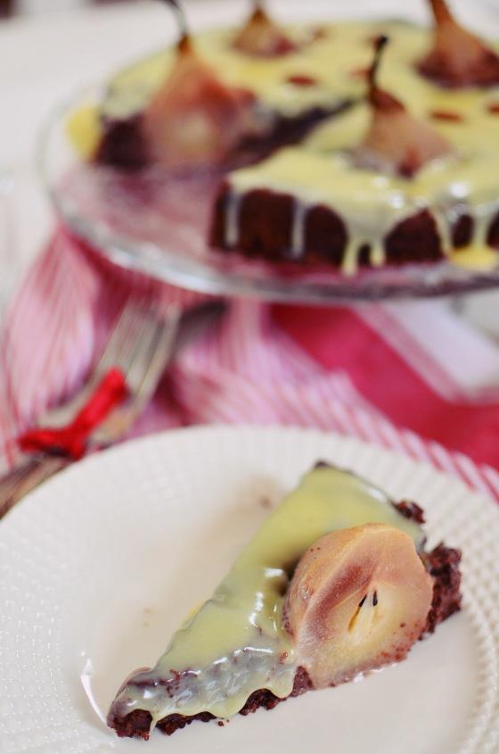 Almond, Chocolate, Pear Cake Recipe, συνταγή, κέικ, αχλάδι, αμύγδαλο, γλάσο λευκής σοκολάτας,Amaretto,κανέλα, Γαβριήλ Νικολαΐδης, coolartisan