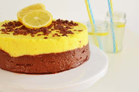Chocolate and Lemon Curd Mousse Cake Recipe 3